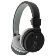 Mettle SH12 Bluetooth headphone with SD Card Slot/ with music and calling controls Headset with Mic - Black