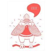 OMY Design & Play Affiche Loula / Phosphorescente - 30 x 40 cm - OMY Design & Play blanc,rouge corail en papier