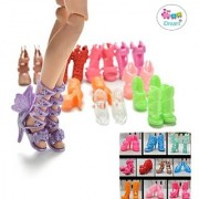 iDream Colourful Fashion Doll Shoes (Pack of 10 Pair)