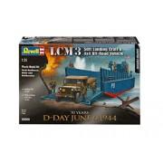 Revell Models Kits 1:35 LCM3 50' Landing Craft & 4x4 Off-Road Vehicle 03000