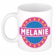 Bellatio Decorations Voornaam Melanie koffie/thee mok of beker