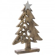 Brad lemn Craciun sculptat - Albero