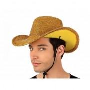 Merkloos Gouden glitter cowboyhoed