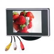 "Car Auto 3.5 ""2 Manier Av-ingang TV Display TFT LCD-KLEURENSCHERM Video Scherm Monitor voor Backup Achteruitrijcamera"