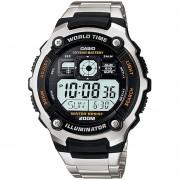 Reloj Casio AE-2000WD-1AVCF World Time 10 Year Battery, Illuminator-Acero