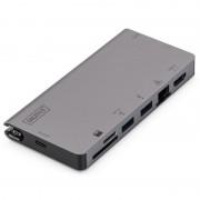 Digitus Dock Station USB-C 8x Puertos Gris