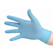 Exam Glove TidiShield NonSterile Powder Free Latex Hand Specific Fully Textured Blue Chemo Tested Medium Qty 500