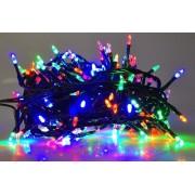 Karácsonyi led fényfüzér, kúp formájú beltéri füzér fára, 200 db extra erős multicolor /piros-zöld- kék-sárga/ leddel. Folyamatosan világít! Life Light led