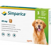 Simparica 80mg 20-40kg x 3 tablete