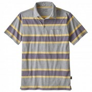 Patagonia - Squeaky Clean Polo - Poloshirt maat S grijs/beige