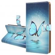 Bolsa tipo Carteira Série Glam para Nokia 6.1 - Borboleta Azul