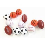 Dazzling Toys Set of 24 Sports Balls for Kids - Soccer Ball Basketball Football Tennis Ball (2 Dozen)