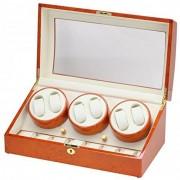 Allurez Caja de almacenamiento para 6 relojes y almacenamiento de relojes en madera de nudo