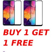 Samsung Galaxy A70 5D Black Tempered Glass Combo Deal Buy 1 Get 1 Free Standard Quality