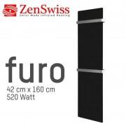 ZenSwiss furo (Farbe: Glanz Schwarz, Format: 42 x 160 cm)