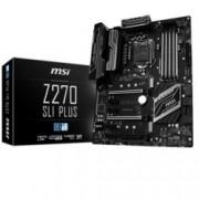 Дънна платка MSI Z270 SLI PLUS, Z270, LGA1151, DDR4, PCI-E (HDMI&DVI)(SLI&CF), 6x SATA 6Gb/s, 2x M.2 slot, 1x USB 3.1 (Type-C), ATX
