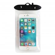 Caso Impermeable Universal Para Iphone 7 6 6s Más Samsung S7 Teléfono Celular Prueba De Agua Bolsa Seca Con Silbato Para Teléfono Inteligente De Hasta 5,8 Pulgadas (negro)