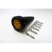 Wtyczka Aspock 8-pin żółta