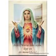 Hűtőmágnes Mária szíve