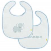 Little Lemonade Slabbetjes Waterproof Hello Handsome/Elephant Blue (2pack)
