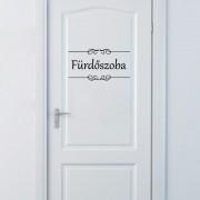Fürdőszoba felirat ajtóra