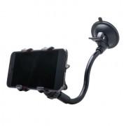 Shop4 - HTC One M9 Autohouder Raamhouder Knijpklem Zwart
