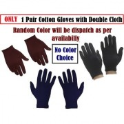 Biking Gloves Cotton Hosiery Soft for Men Women with double Cloth CODEhi-6690
