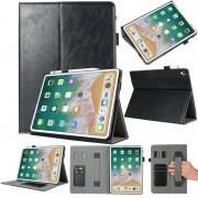 Apple Echte lederen beschermhoes voor iPad Pro 12 9 inch (2018) met houder & Card Slots (zwart)