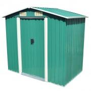 vidaXL Abrigo de jardim metal verde 204x132x186 cm