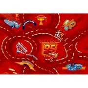 Vopi Cars koberec červený 140 x 200 cm