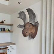vidaXL Zidni ukras u obliku glave losa