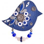 Petra Švarcová Modrá brož Pták