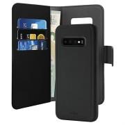 Puro 2-in-1 Samsung Galaxy S10+ portemonnee met magneet case - Zwart