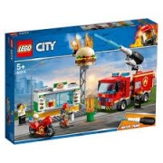 LEGO City, Stingerea incendiului de la Burger Bar 60214, 5+ ani (Brand: LEGO)