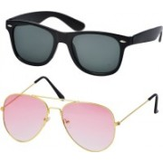 Freny Exim Aviator, Wayfarer Sunglasses(Black, Pink)