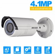 Vari Focal IR Bullet IP Camera English Version DS-2CD2642FWD-IS 2.8~12mm lens IP Camera CCTV Camera Audio WDR