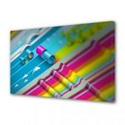 Tablou Canvas Premium Abstract Multicolor Dungi Multicolore Decoratiuni Moderne pentru Casa 80 x 160 cm