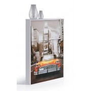 Front Printed White Shoe Cabinet