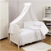 Бебешки спален комплект, 5 части, Twins Bianco Collection, 0223, Baby Matex, 5902675038690