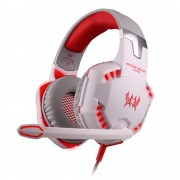EACH G2000 Stereo Bass Over-ear Gaming Headphone Headset for PC Game - Red