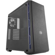 """CARCASA COOLER MASTER MasterBox MB600L fara ODD, window version, mid-tower, ATX, 1* 120mm fan (incluse), I/O panel, black&blue """"MCB-B600L-KANN-S01"""""""