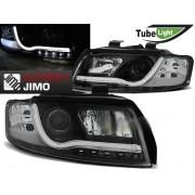Přední světla AUDI A4 B6 00-04 - LED TUBE LIGHT - Černá H1