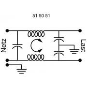 Soclu alimentare tata IEC cu filtru Yunpen, 2 x 3,7 mH, 1 A