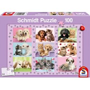 Puzzle My Animal Friends, 100 piese