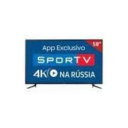 """Smart TV LED 58"""" 58MU6120 Samsung, 4K HDMI USB e HDR Premium"""
