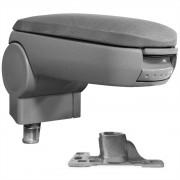 [pro.tec]® Специализирана облегалка за ръце за марка автомобили AUDI A4 B5 с контейнер за съхранение текстил - сив