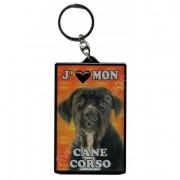 Porte clé 3D J'aime mon Cane Corso