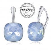 Silvego SILVEGO stříbrné náušnice se Swarovski(R) Crystals modrým opálem 12mm - VSW051E