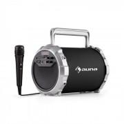 Auna DR. Bang! 2.1 Altavoz Bluetooth USB SD AUX Batería Micrófono negro incl.