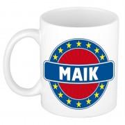 Bellatio Decorations Maik naam koffie mok / beker 300 ml - Naam mokken